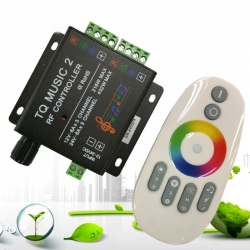 2.4G Wifi Metal Housing LED RGB Music Controller With Rainbow Touch Remote​