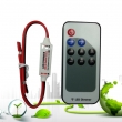 DC5-24V 1x6A Mini LED Dimmer With RF Remote for 5050 3528 Single Color Strips