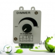 DC12-24V 16A Mini Knob LED Strip Light Dimmer Controller For 3528 5050 Single Color Strip